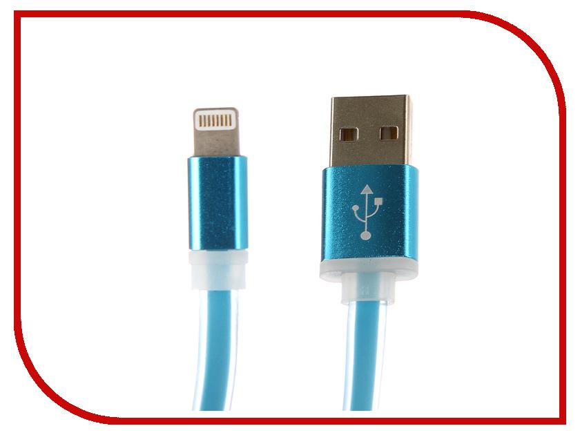 Аксессуар Aksberry USB - Lightning 8-pin Silicone Blue