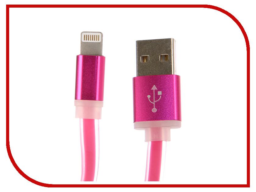 Аксессуар Aksberry USB - Lightning 8-pin Silicone Pink