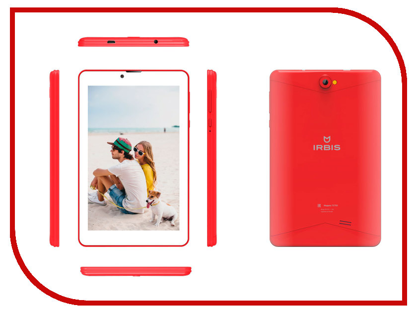 Zakazat.ru: Планшет Irbis TZ753R Red (SC7731G 1.3 GHz/1024Mb/16Gb/3G/Wi-Fi/Bluetooth/GPS/Cam/7.0/1280x800/Android)