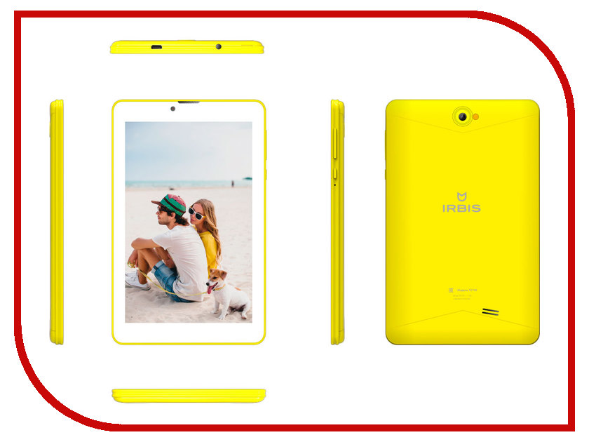 Планшет Irbis TZ753Y Yellow (SC7731G 1.3 GHz/1024Mb/16Gb/3G/Wi-Fi/Bluetooth/GPS/Cam/7.0/1280x800/Android) планшет bq 1083g armor pro plus print 07 spreadtrum sc7731g 1 3 ghz 1024mb 8gb gps 3g wi fi bluetooth cam 10 1 1280x800 android