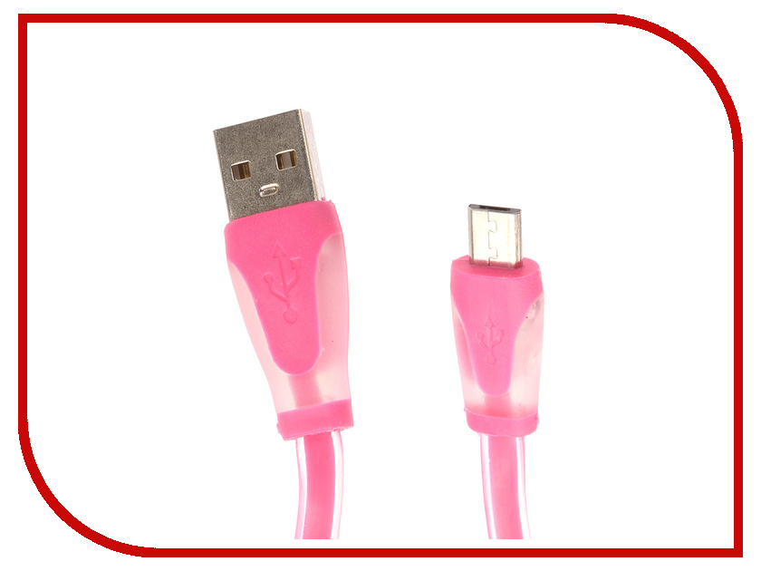 Аксессуар Aksberry USB - microUSB Silicone Pink