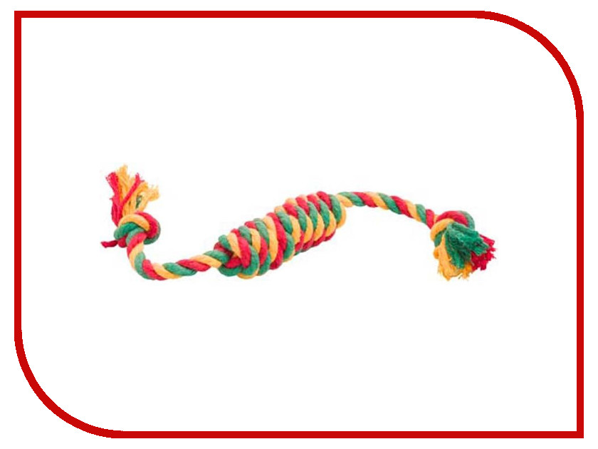 Сарделька канатная Doglike Средняя Yellow-Green-Red