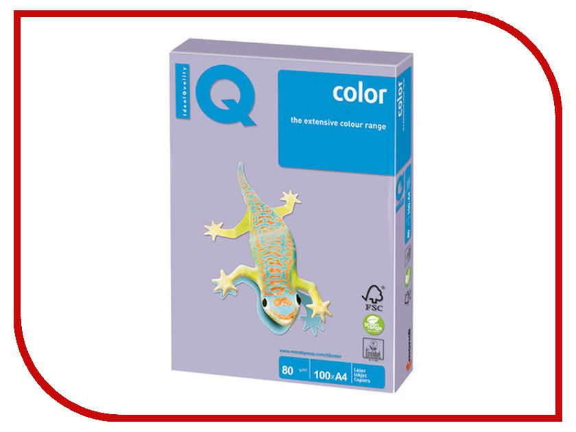 Бумага IQ Color A4 80g/m2 100 листов Pale Lilac LA12 110846 бумага maestro color pale a4 80g m2 100л blue mb30 102474