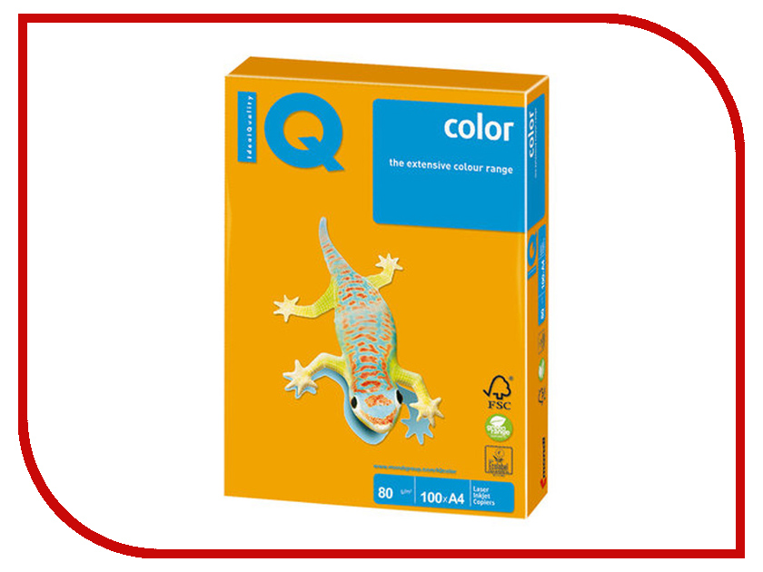 Бумага IQ Color A4 80g/m2 100 листов Old Gold AG10 110844