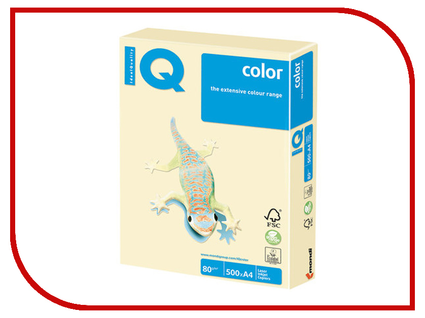 Бумага IQ Color A4 80g/m2 500 листов Pastel Vanilla BE66 110789