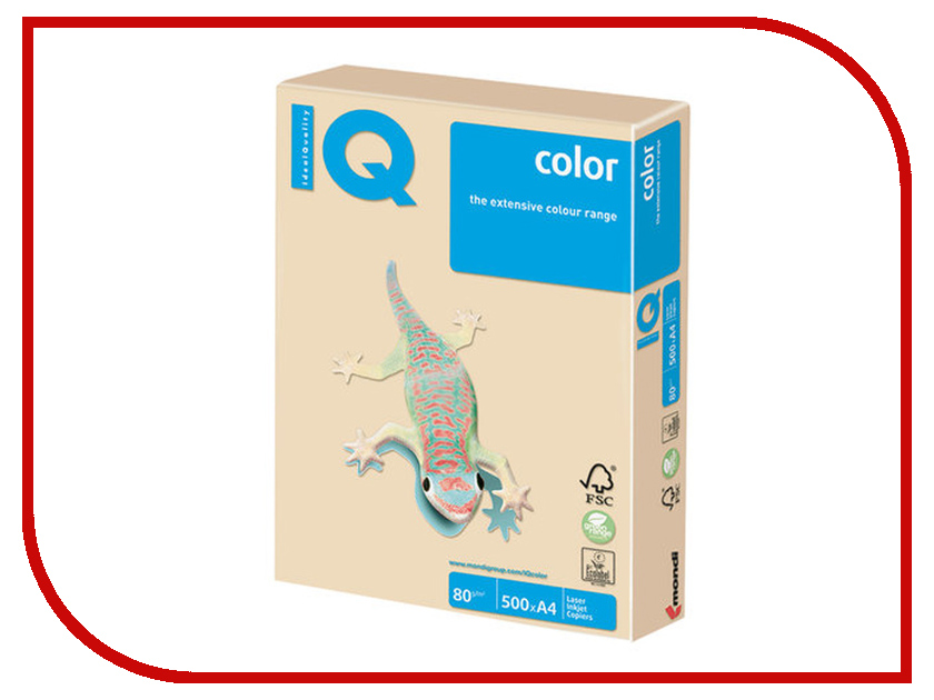 Бумага IQ Color A4 80g/m2 500 листов Pastel Dark Cream SA24 110787