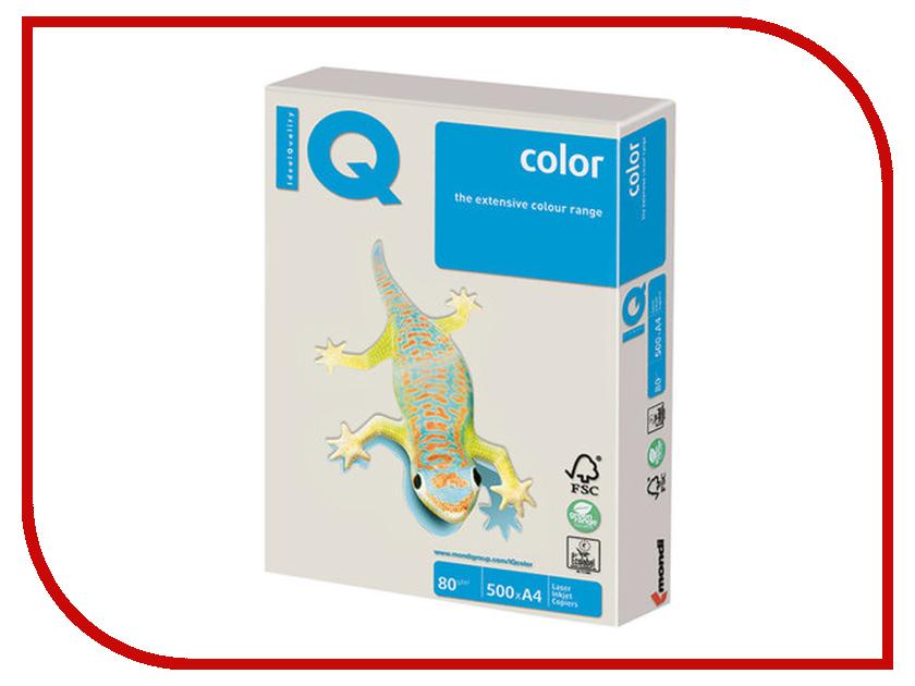 Бумага IQ Color A4 80g/m2 500 листов Grey GR21 110817 бумага maestro color pale a4 80g m2 100л blue mb30 102474