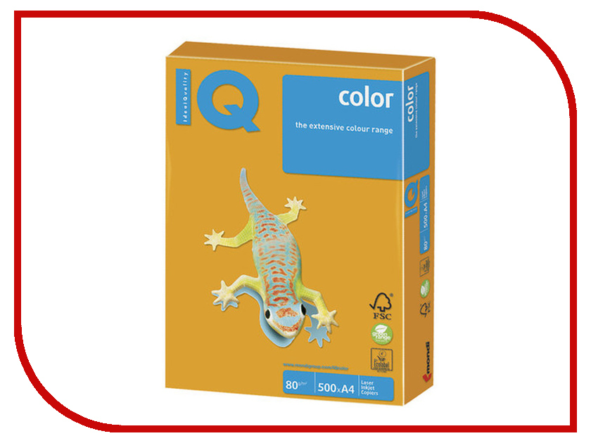 Бумага IQ Color A4 80g/m2 500 листов Old Gold AG10 110679