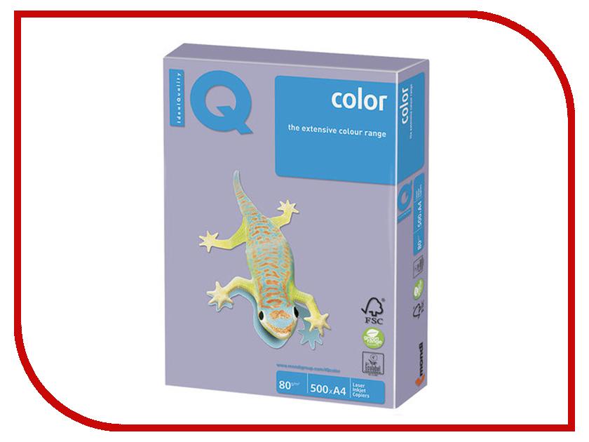 Бумага IQ Color A4 80g/m2 500 листов Pale Lilac LA12 110677 бумага maestro color pale a4 80g m2 100л blue mb30 102474