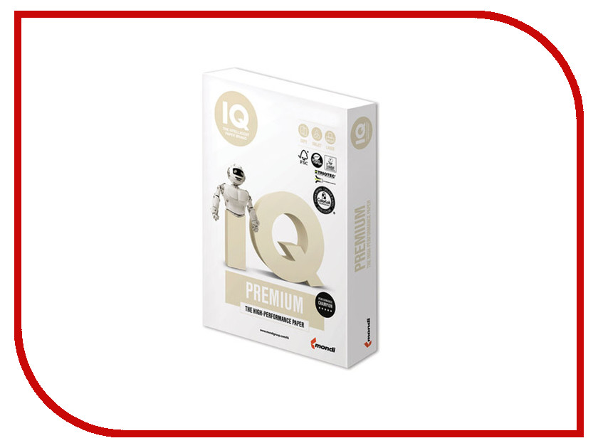 Бумага IQ Premium A3 200g/m2 250 листов A+ 169% CIE 110751