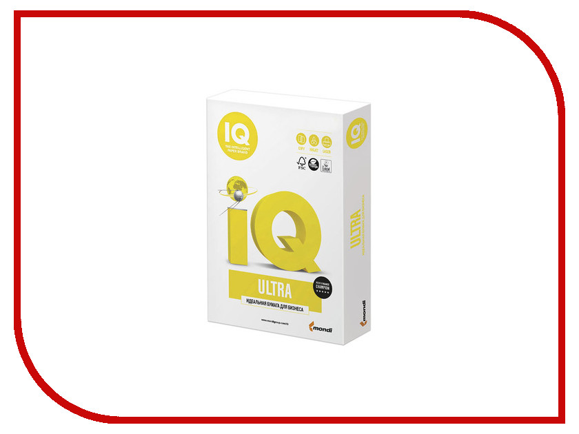 Бумага IQ Ultra A3 80g/m2 500 листов A+ 168% CIE 110703 бумага iq color a4 80g m2 500 листов pastel dark cream sa24 110787