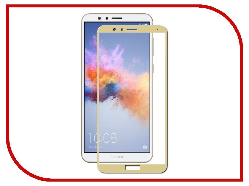 Аксессуар Защитное стекло для Huawei Honor 7X Zibelino TG Full Screen Gold 0.33mm 2.5D ZTG-FS-HUA-HON7X-GLD аксессуар защитное стекло для huawei honor y9 2018 luxcase 3d full screen black frame 77921