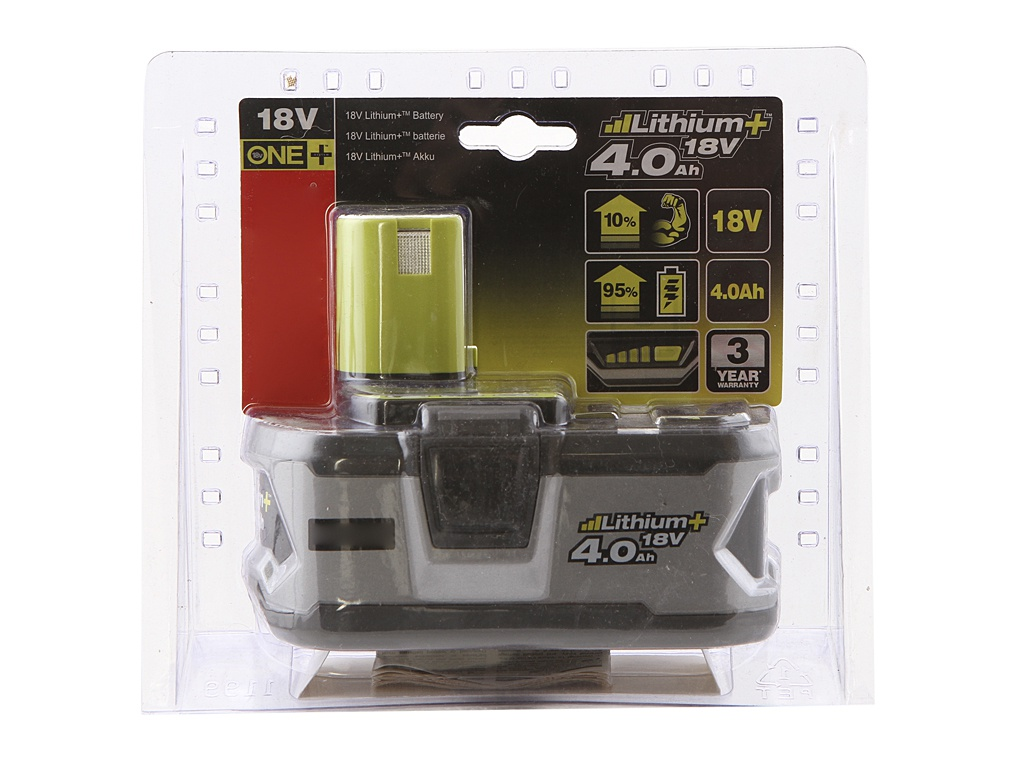 Аккумулятор Ryobi ONE+ Lithium+ RB18L40 5133001907 цена