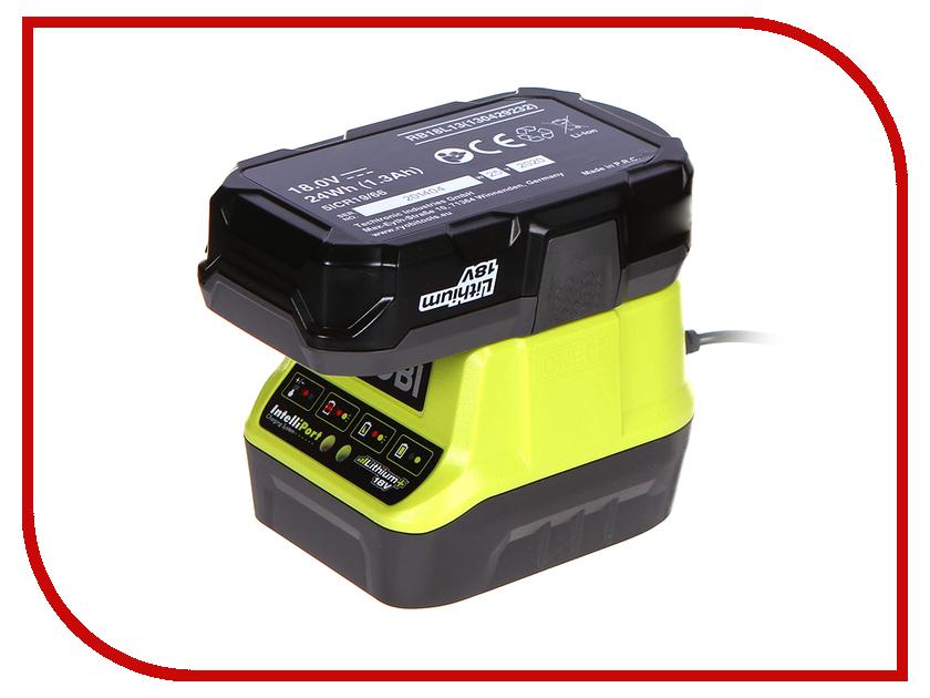 Комплект Ryobi ONE+ 1x1.3Ah Lithium + зарядное устройство RC18120-113 5133003354 аккумулятор ryobi one rc18120 150 18 в 5 0 а ч li ion зарядное устройство rc18120