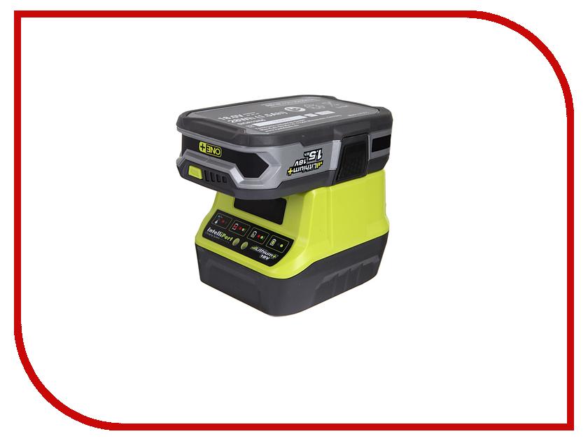 Комплект Ryobi ONE+ 1x1.5Ah Lithium + зарядное устройство RC18120-115 5133003357 аккумулятор ryobi one rc18120 150 18 в 5 0 а ч li ion зарядное устройство rc18120