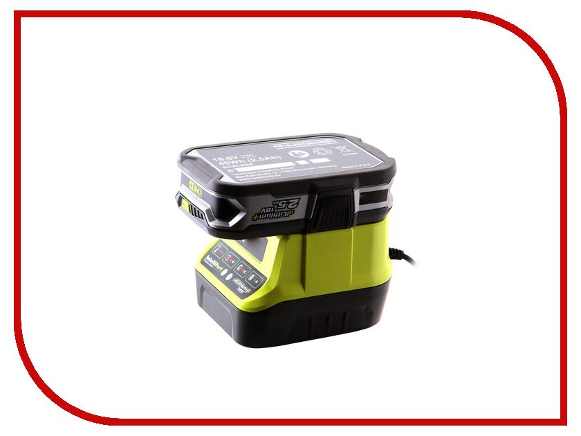 Комплект Ryobi ONE+ 1x2.5Ah Lithium + зарядное устройство RC18120-125 5133003359 аккумулятор ryobi one rc18120 150 18 в 5 0 а ч li ion зарядное устройство rc18120