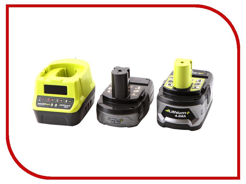 Комплект Ryobi ONE+ 1x4.0Ah + 1x2.0Ah Lithium + зарядное устройство RC18120-242 5133003365 аккумулятор ryobi one rc18120 150 18 в 5 0 а ч li ion зарядное устройство rc18120