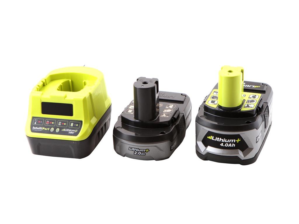 Комплект Ryobi ONE+ 1x4.0Ah + 1x2.0Ah Lithium зарядное устройство RC18120-242 5133003365