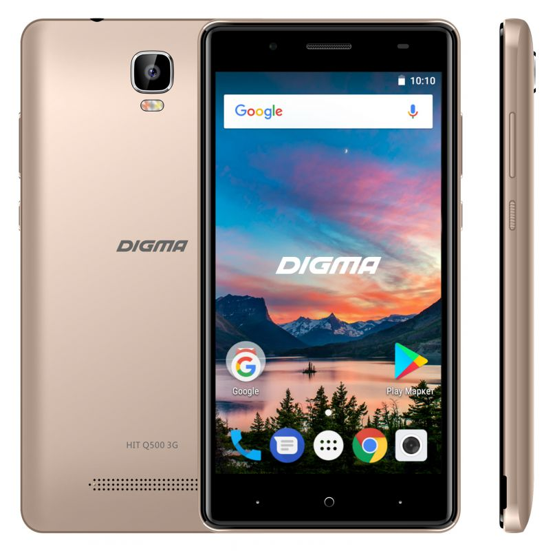Сотовый телефон Digma HIT Q500 3G Gold смартфон digma hit q500 3g 8gb 1gb black