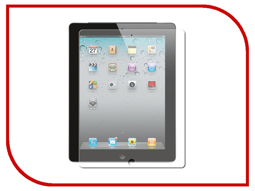 Аксессуар Защитное стекло Gurdini Premium Glass 0.26mm для APPLE iPad 2/3/4 Transparent 240096 protective pet crystal screen guard for ipad 2 3 4 the new ipad transparent 5 pcs