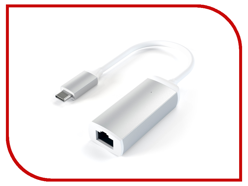 Сетевая карта Satechi Aluminum Type-C to Gigabit Ethernet Silver ST-TCENS