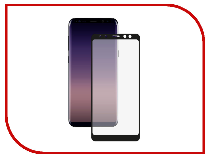Аксессуар Защитное стекло Samsung Galaxy A8 2018 A530 Red Line Full Screen Tempered Glass Black аксессуар защитное стекло samsung galaxy note 8 full screen 3d red line black