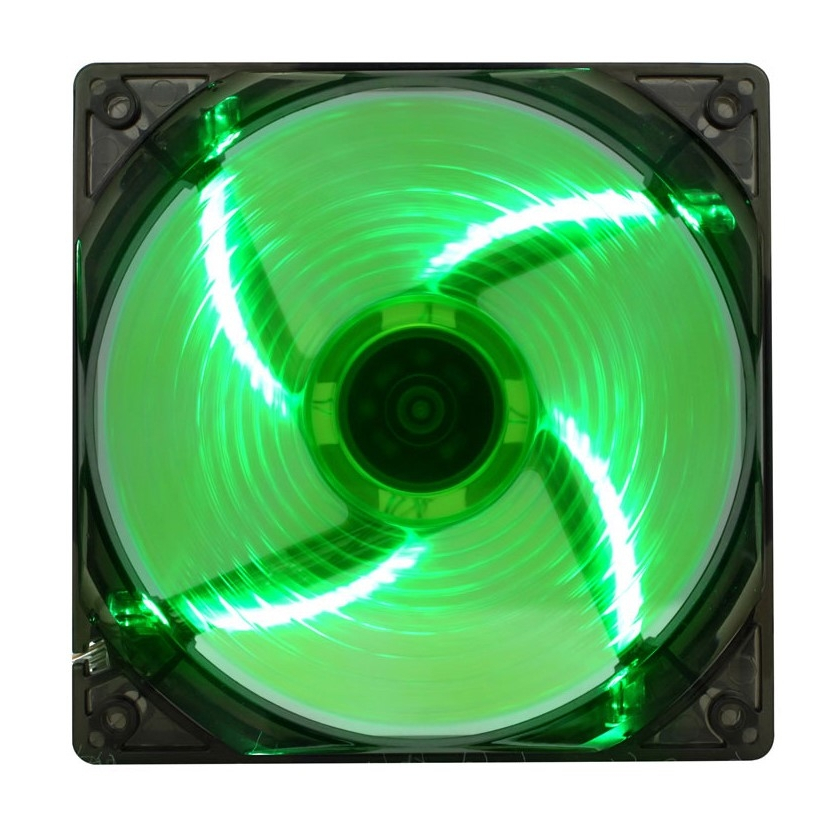 Вентилятор GameMax WindForce 4 x Green LED цена и фото
