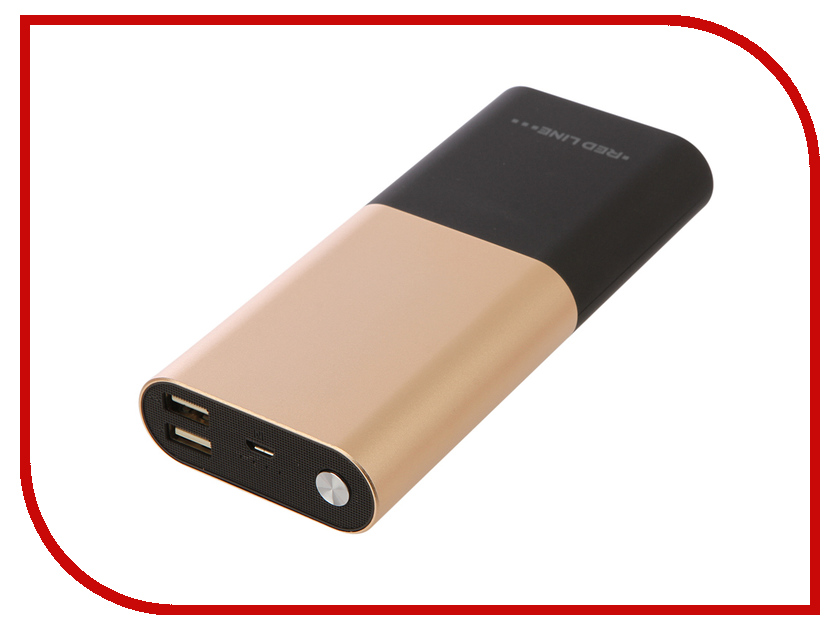 Аккумулятор Red Line T7 9000mAh Gold red line b6000 pink gold внешний аккумулятор 6 000 mah