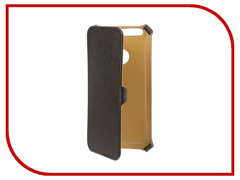 Аксессуар Чехол для Huawei Honor 8 Snoogy иск.кожа Black SN-HHb-8-BLK-LTH