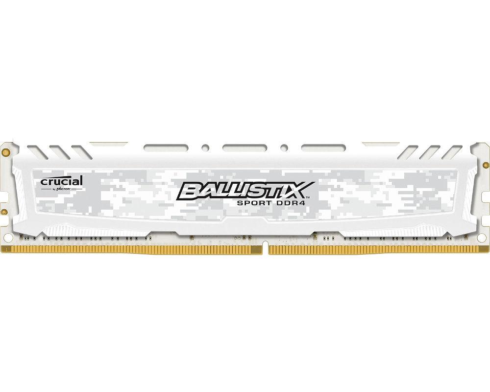 Модуль памяти Crucial Ballistix Sport LT White DDR4 UDIMM 2666MHz PC4-21300 CL16 - 4Gb BLS4G4D26BFSC crucial ct8g4dfd8213 ddr4 8гб pc4 17000 2133 udimm