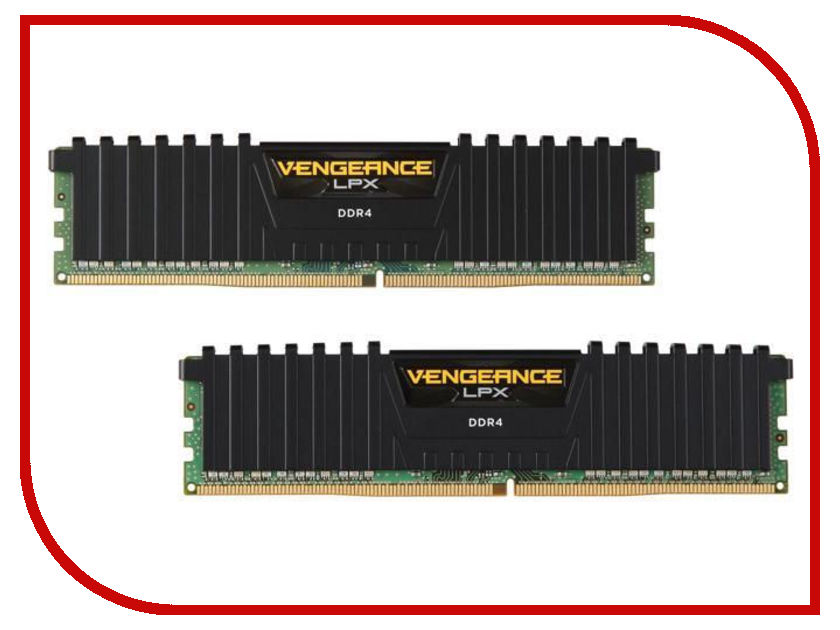 Модуль памяти Corsair Vengeance LPX DDR4 DIMM 3000MHz PC4-24000 CL15 - 16Gb KIT (2x8Gb) CMK16GX4M2L3000C15 maytoni t018 03 b