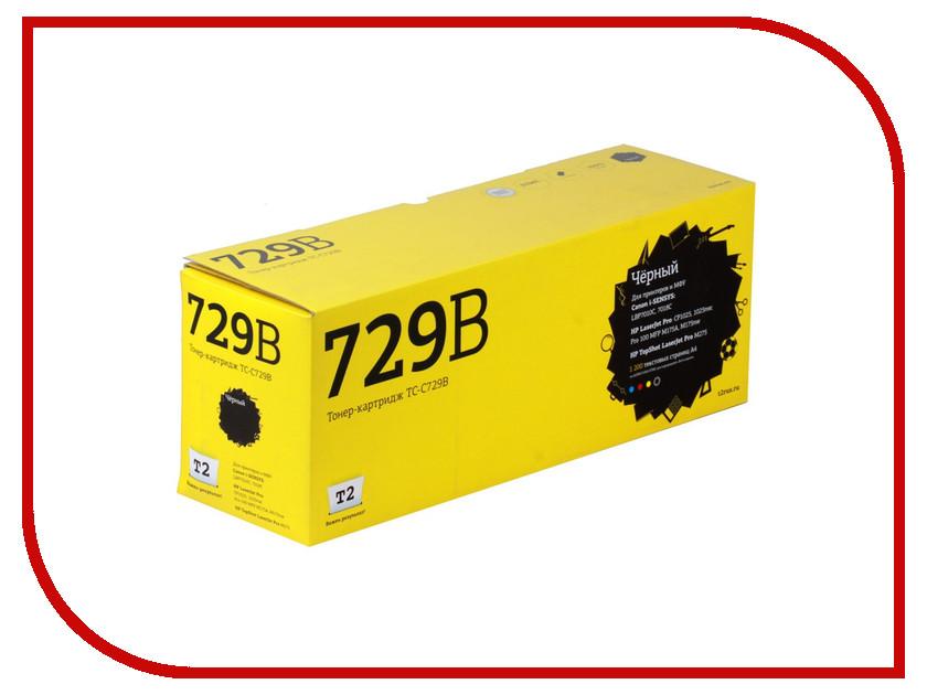 Картридж T2 TC-C729B Black для Canon i-SENSYS LBP7010C/HP LJ Pro CP1025 1200стр.с чипом картридж t2 tc c729y для canon i sensys lbp7010c 7018c hp laserjet pro cp1025 1025nw pro 100 mfp желтый