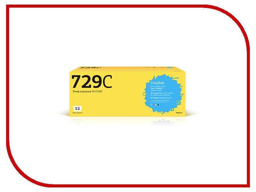 Картридж T2 TC-C729C Blue для Canon i-SENSYS LBP7010C/HP LJ Pro CP1025 1000стр.с чипом принтер canon i sensys colour lbp653cdw лазерный цвет белый [1476c006]