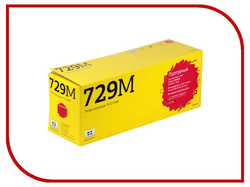 Картридж T2 TC-C729M Purple для Canon i-SENSYS LBP7010C/HP LJ Pro CP1025 1000стр. с чипом картридж t2 cf351a tc h351