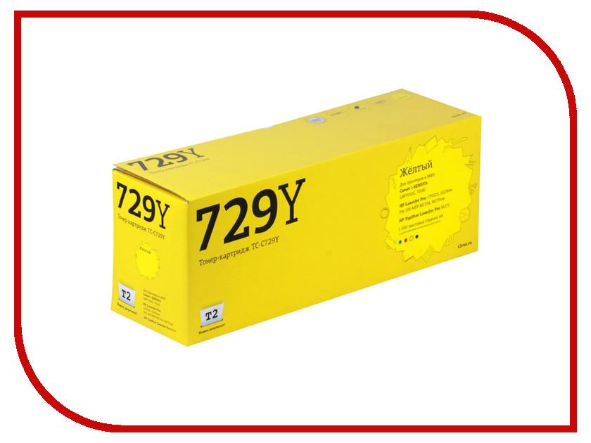 Картридж T2 TC-C729Y Yellow для Canon i-SENSYS LBP7010C/HP LJ Pro CP1025 1000стр. с чипом картридж t2 tc c729y для canon i sensys lbp7010c 7018c hp laserjet pro cp1025 1025nw pro 100 mfp желтый