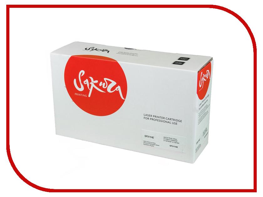 Картридж Sakura SP311HE Black для Ricoh Aficio 311DN/311DNW/SP 311SFN/SP 311SFNW 3500к картридж sakura sasp150he black для ricoh sp 150 150su 1500к