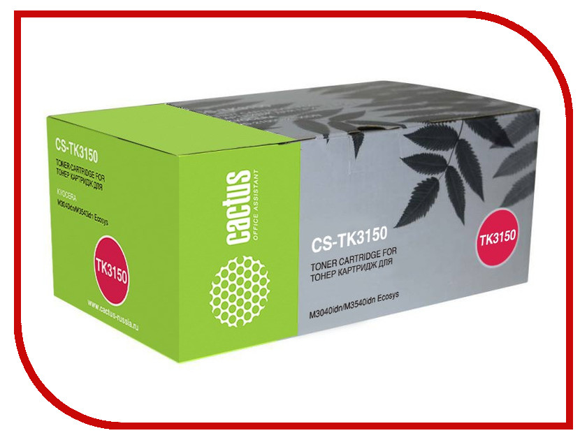 Картридж Cactus CS-TK3150 Black для Kyocera Mita M3040idn/M3540idn Ecosys худи print bar cs go asiimov black
