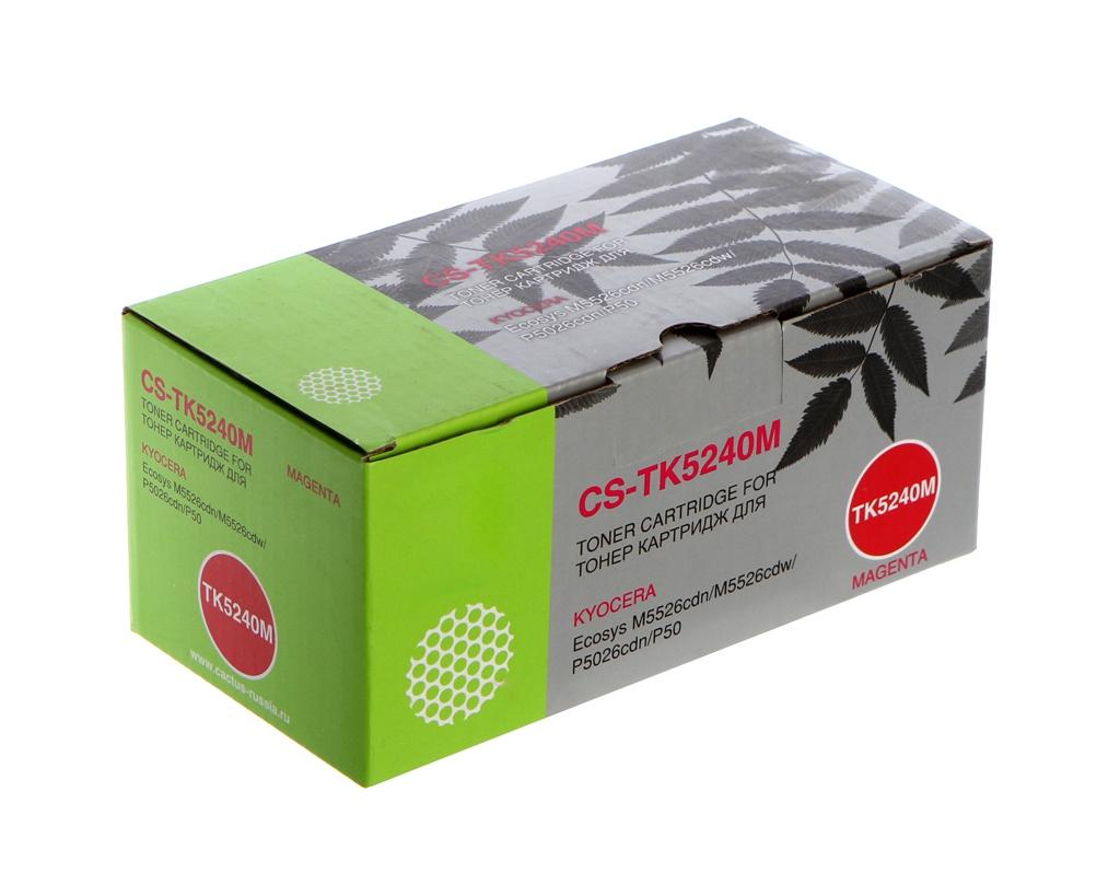 Картридж Cactus CS-TK5240M Magenta для Kyocera Ecosys M5526cdn/M5526cdw/P5026cdn/P5026cdw фото