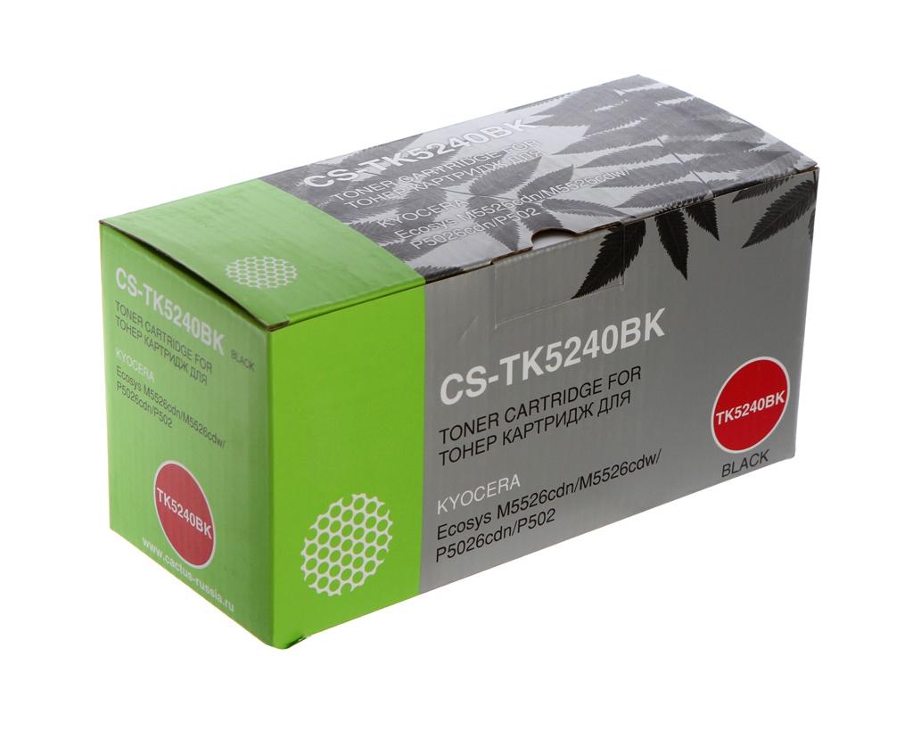 Картридж Cactus CS-TK5240BK Black для Kyocera Ecosys M5526cdn/M5526cdw/P5026cdn/P5026cdw