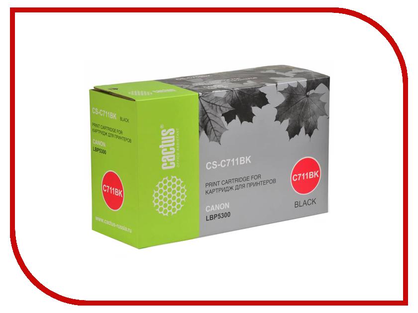 Картридж Cactus CS-C711BK Black для Canon LBP5300 картридж cactus 520 cs pgi520bk black
