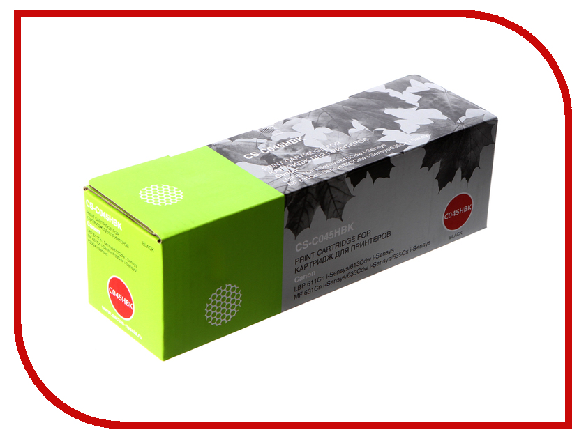 Картридж Cactus CS-C045HBK Black для Canon LBP 611Cn/613Cdw/631Cn/633Cdw/635Cx худи print bar cs go asiimov black