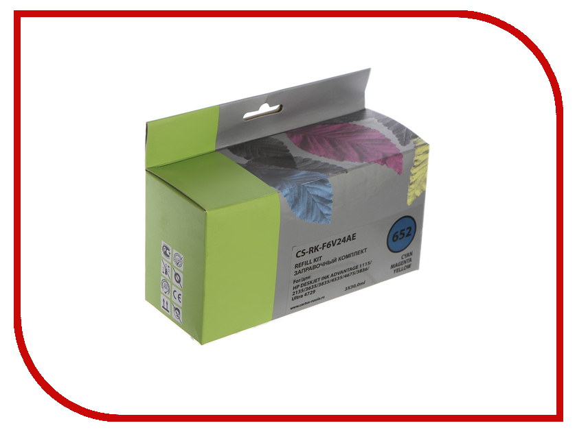Чернила Cactus CS-RK-F6V24AE Multicolor для HP Deskjet Ink Advantage 1115/2135/3635/4535/3835 заправка cactus cs rk f6v24ae для hp deskjet ink advantage 1115 2135 3635 3835 4535 цветной 90мл