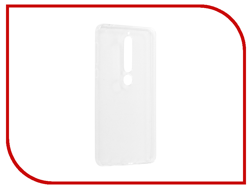 Аксессуар Чехол для Nokia 6 2018 Onext Silicone Transparent 70575 аксессуар чехол для samsung galaxy a5 2017 onext silicone transparent 70513