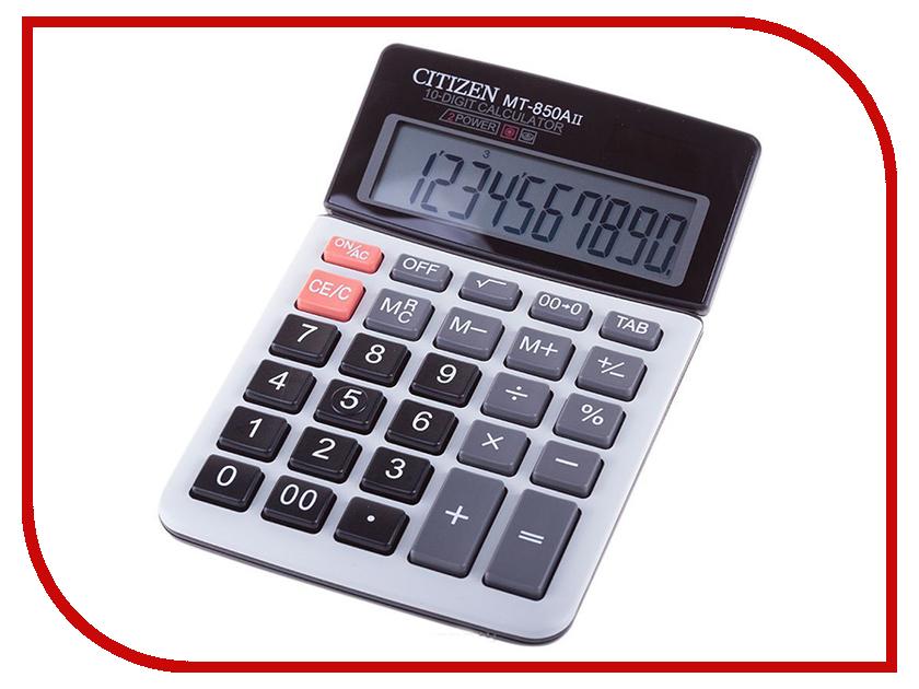 Калькулятор Citizen MT-850AII - двойное питание калькулятор citizen d 312 black двойное питание
