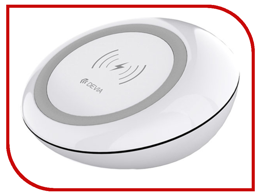 Зарядное устройство Devia Non-pole Wireless Fast Charger White