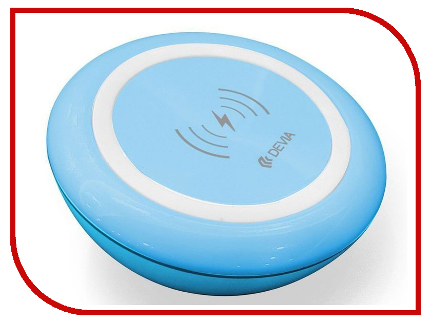 Зарядное устройство Devia Non-pole Wireless Fast Charger Blue
