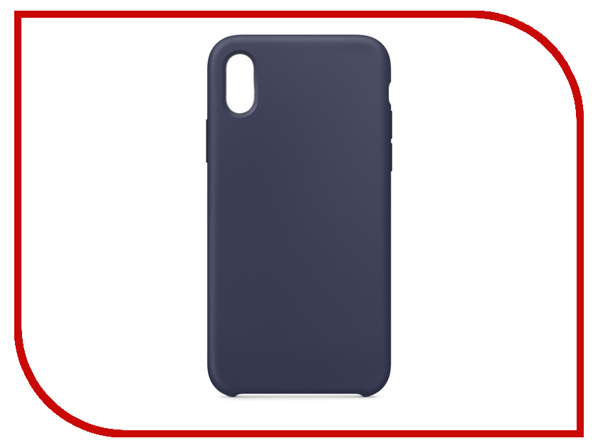 Аксессуар Чехол APPLE iPhone X Silicone Case Midnight Blue MQT32ZM/A аксессуар чехол apple iphone 7 8 leather case midnight blue mqh82zm a