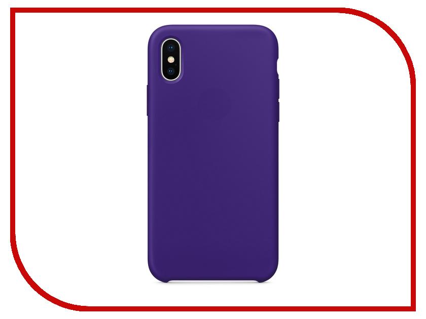 Аксессуар Чехол APPLE iPhone X Silicone Case Ultra Violet MQT72ZM/A аксессуар чехол apple iphone x leather case black mqtd2zm a