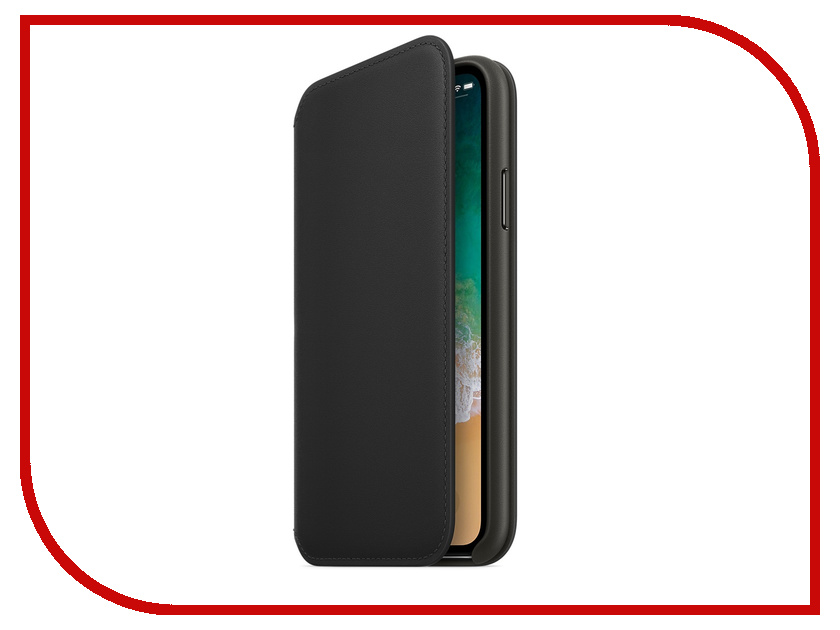 Аксессуар Чехол APPLE iPhone X Leather Folio Black MQRV2ZM/A