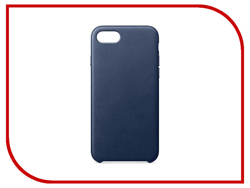 Аксессуар Чехол APPLE iPhone 7/8 Leather Case Midnight Blue MQH82ZM/A аксессуар чехол mamba case zephyr для apple iphone 7 8